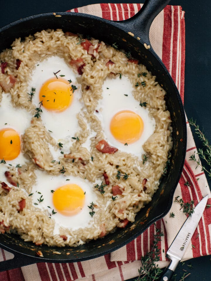 Breakfast Risotto With Bacon And Thyme