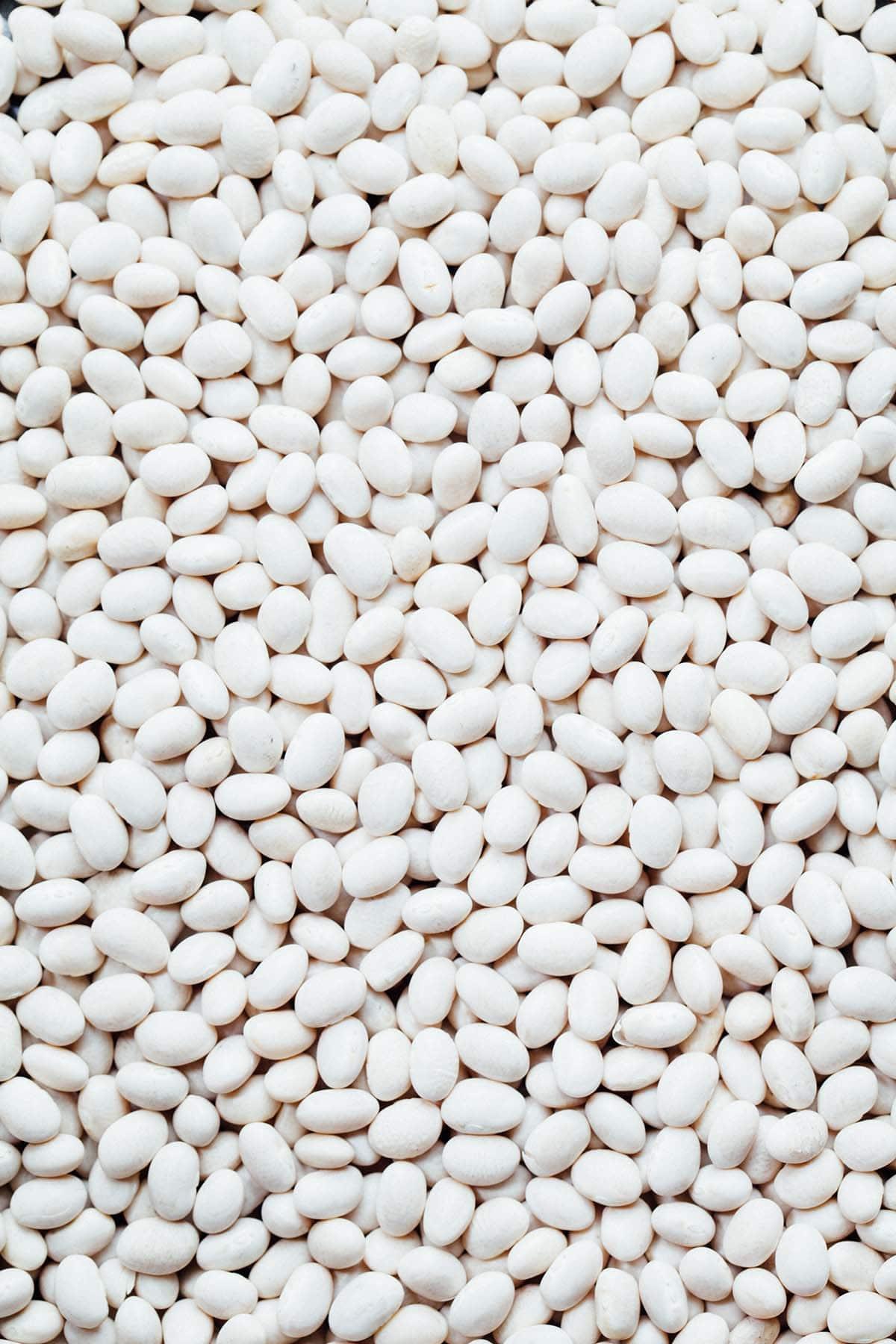 Dry white beans.