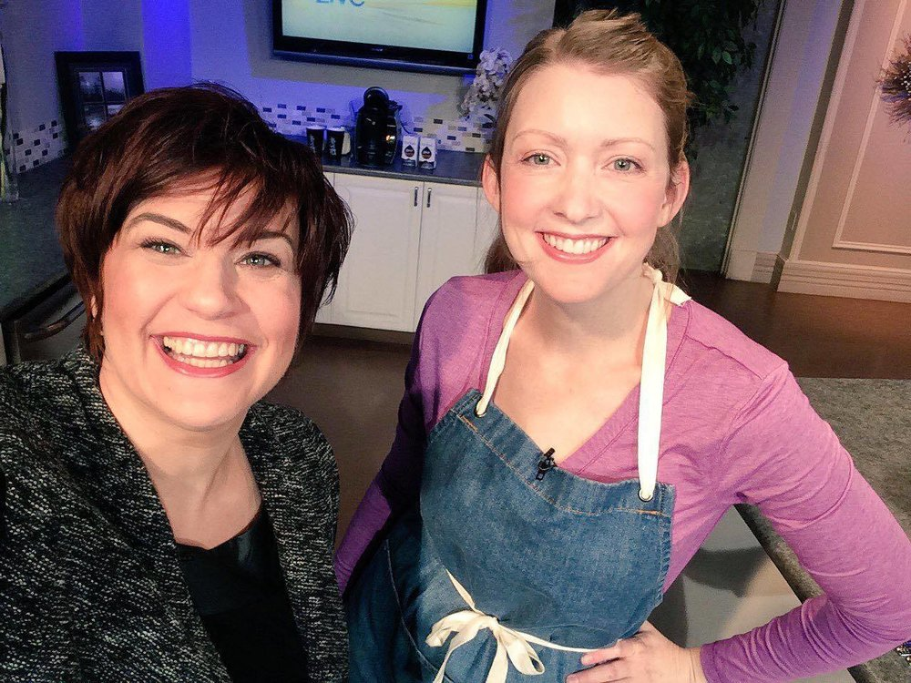 Host Heidi Petracek and I on the set of CTV Morning Live Atlantic, for the #ReThinkBeef campaign, February 28, 2017.