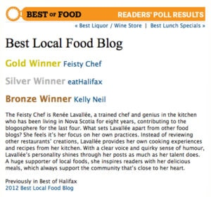 Kelly Neil Bronze Winner The Coast Best Of Food 2013.jpg