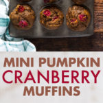 Two photos of muffins with text.