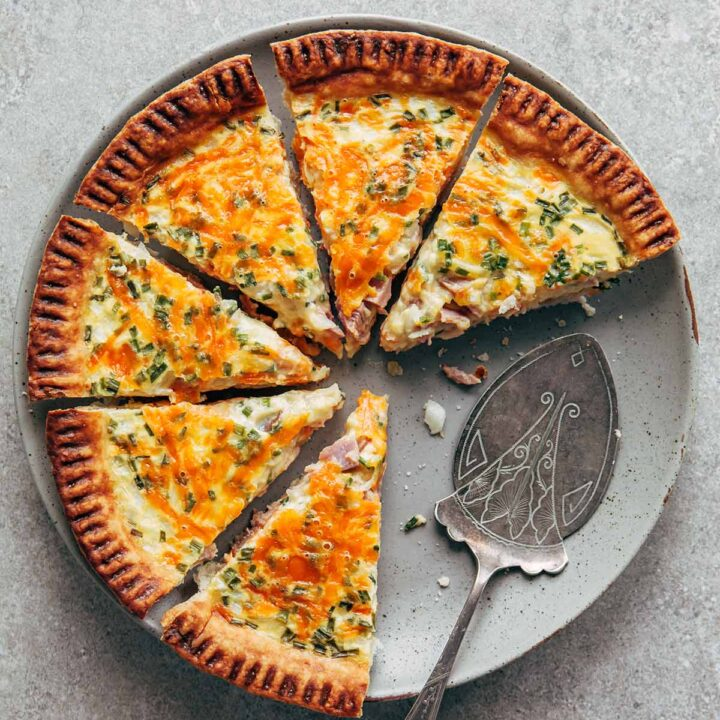 Buttermilk Quiche With Ham Cheddar And Chives Kelly Neil