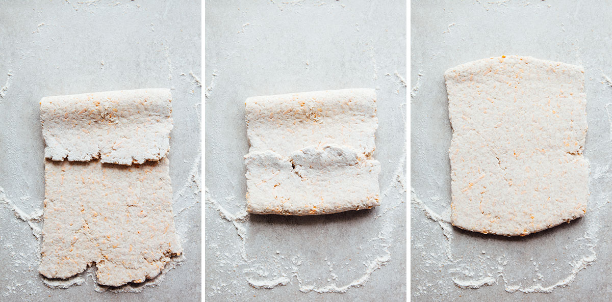 Process shots for biscuits.